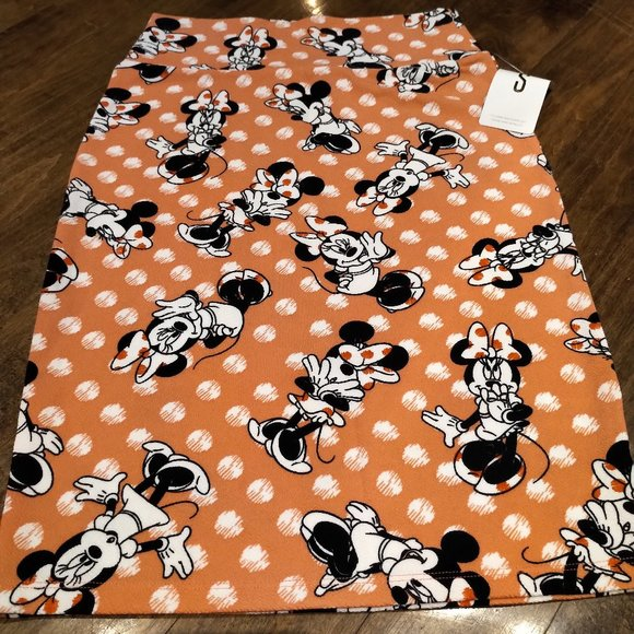Lula Roe Disney Minnie Mouse Cassie Skirt size S